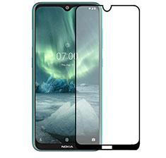 Schutzfolie Full Coverage Displayschutzfolie Panzerfolie Gehärtetes Glas Glasfolie Skins zum Aufkleben Panzerglas für Nokia 2.3 Schwarz
