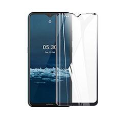 Schutzfolie Full Coverage Displayschutzfolie Panzerfolie Gehärtetes Glas Glasfolie Skins zum Aufkleben Panzerglas für Nokia 5.3 Schwarz