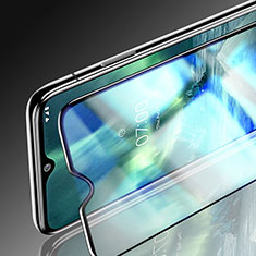 Schutzfolie Full Coverage Displayschutzfolie Panzerfolie Gehärtetes Glas Glasfolie Skins zum Aufkleben Panzerglas für Nokia 7.2 Schwarz