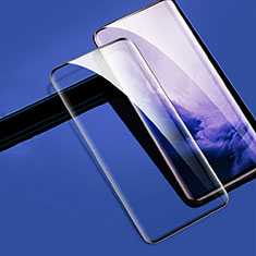 Schutzfolie Full Coverage Displayschutzfolie Panzerfolie Gehärtetes Glas Glasfolie Skins zum Aufkleben Panzerglas für OnePlus 7T Pro Schwarz