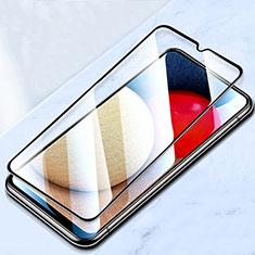 Schutzfolie Full Coverage Displayschutzfolie Panzerfolie Gehärtetes Glas Glasfolie Skins zum Aufkleben Panzerglas für Samsung Galaxy A12 Schwarz