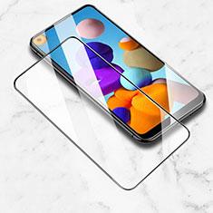 Schutzfolie Full Coverage Displayschutzfolie Panzerfolie Gehärtetes Glas Glasfolie Skins zum Aufkleben Panzerglas für Samsung Galaxy A21 Schwarz