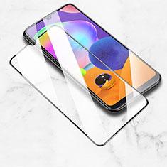 Schutzfolie Full Coverage Displayschutzfolie Panzerfolie Gehärtetes Glas Glasfolie Skins zum Aufkleben Panzerglas für Samsung Galaxy A31 Schwarz