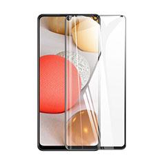 Schutzfolie Full Coverage Displayschutzfolie Panzerfolie Gehärtetes Glas Glasfolie Skins zum Aufkleben Panzerglas für Samsung Galaxy A42 5G Schwarz