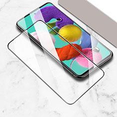 Schutzfolie Full Coverage Displayschutzfolie Panzerfolie Gehärtetes Glas Glasfolie Skins zum Aufkleben Panzerglas für Samsung Galaxy A51 5G Schwarz
