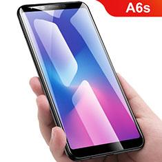 Schutzfolie Full Coverage Displayschutzfolie Panzerfolie Gehärtetes Glas Glasfolie Skins zum Aufkleben Panzerglas für Samsung Galaxy A6s Schwarz
