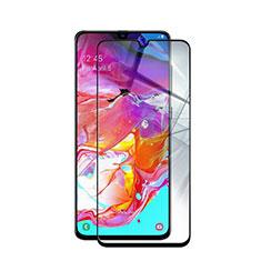 Schutzfolie Full Coverage Displayschutzfolie Panzerfolie Gehärtetes Glas Glasfolie Skins zum Aufkleben Panzerglas für Samsung Galaxy A70S Schwarz