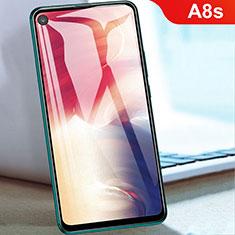 Schutzfolie Full Coverage Displayschutzfolie Panzerfolie Gehärtetes Glas Glasfolie Skins zum Aufkleben Panzerglas für Samsung Galaxy A8s SM-G8870 Schwarz
