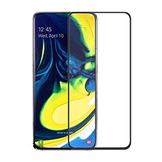Schutzfolie Full Coverage Displayschutzfolie Panzerfolie Gehärtetes Glas Glasfolie Skins zum Aufkleben Panzerglas für Samsung Galaxy A90 4G Schwarz