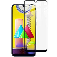 Schutzfolie Full Coverage Displayschutzfolie Panzerfolie Gehärtetes Glas Glasfolie Skins zum Aufkleben Panzerglas für Samsung Galaxy M31 Prime Edition Schwarz