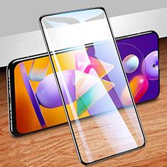 Schutzfolie Full Coverage Displayschutzfolie Panzerfolie Gehärtetes Glas Glasfolie Skins zum Aufkleben Panzerglas für Samsung Galaxy M31s Schwarz