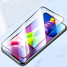 Schutzfolie Full Coverage Displayschutzfolie Panzerfolie Gehärtetes Glas Glasfolie Skins zum Aufkleben Panzerglas für Samsung Galaxy M51 Schwarz