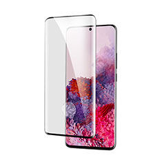 Schutzfolie Full Coverage Displayschutzfolie Panzerfolie Gehärtetes Glas Glasfolie Skins zum Aufkleben Panzerglas für Samsung Galaxy S21 5G Schwarz