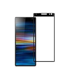 Schutzfolie Full Coverage Displayschutzfolie Panzerfolie Gehärtetes Glas Glasfolie Skins zum Aufkleben Panzerglas für Sony Xperia 10 Schwarz