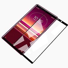 Schutzfolie Full Coverage Displayschutzfolie Panzerfolie Gehärtetes Glas Glasfolie Skins zum Aufkleben Panzerglas für Sony Xperia 5 Schwarz