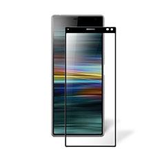 Schutzfolie Full Coverage Displayschutzfolie Panzerfolie Gehärtetes Glas Glasfolie Skins zum Aufkleben Panzerglas für Sony Xperia 8 Schwarz