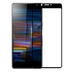 Schutzfolie Full Coverage Displayschutzfolie Panzerfolie Gehärtetes Glas Glasfolie Skins zum Aufkleben Panzerglas für Sony Xperia L3 Schwarz