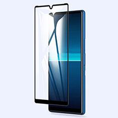 Schutzfolie Full Coverage Displayschutzfolie Panzerfolie Gehärtetes Glas Glasfolie Skins zum Aufkleben Panzerglas für Sony Xperia L4 Schwarz