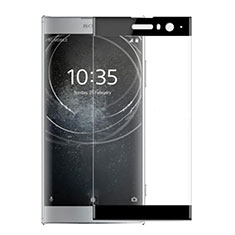 Schutzfolie Full Coverage Displayschutzfolie Panzerfolie Gehärtetes Glas Glasfolie Skins zum Aufkleben Panzerglas für Sony Xperia XA2 Plus Schwarz