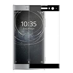 Schutzfolie Full Coverage Displayschutzfolie Panzerfolie Gehärtetes Glas Glasfolie Skins zum Aufkleben Panzerglas für Sony Xperia XA2 Schwarz