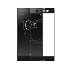 Schutzfolie Full Coverage Displayschutzfolie Panzerfolie Gehärtetes Glas Glasfolie Skins zum Aufkleben Panzerglas für Sony Xperia XA2 Ultra Schwarz