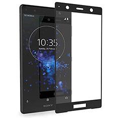 Schutzfolie Full Coverage Displayschutzfolie Panzerfolie Gehärtetes Glas Glasfolie Skins zum Aufkleben Panzerglas für Sony Xperia XZ2 Premium Schwarz