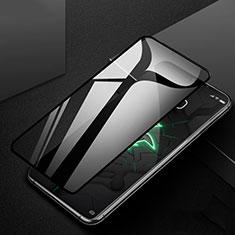 Schutzfolie Full Coverage Displayschutzfolie Panzerfolie Gehärtetes Glas Glasfolie Skins zum Aufkleben Panzerglas für Xiaomi Black Shark 3 Pro Schwarz