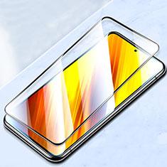 Schutzfolie Full Coverage Displayschutzfolie Panzerfolie Gehärtetes Glas Glasfolie Skins zum Aufkleben Panzerglas für Xiaomi Poco X3 NFC Schwarz