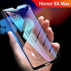 Schutzfolie Full Coverage Displayschutzfolie Panzerfolie Gehärtetes Glas Glasfolie Skins zum Aufkleben Panzerglas R01 für Huawei Honor 8X Max Schwarz