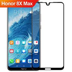 Schutzfolie Full Coverage Displayschutzfolie Panzerfolie Gehärtetes Glas Glasfolie Skins zum Aufkleben Panzerglas R02 für Huawei Honor 8X Max Schwarz