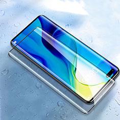 Schutzfolie Full Coverage Displayschutzfolie Panzerfolie Gehärtetes Glas Glasfolie Skins zum Aufkleben Panzerglas T01 für Huawei Nova 7 Pro 5G Schwarz