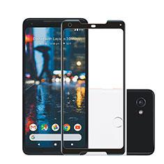 Schutzfolie Full Coverage Displayschutzfolie Panzerfolie Skins zum Aufkleben Gehärtetes Glas Glasfolie F02 für Google Pixel 2 XL Schwarz