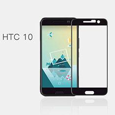 Schutzfolie Full Coverage Displayschutzfolie Panzerfolie Skins zum Aufkleben Gehärtetes Glas Glasfolie F02 für HTC 10 One M10 Schwarz