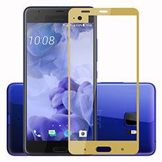 Schutzfolie Full Coverage Displayschutzfolie Panzerfolie Skins zum Aufkleben Gehärtetes Glas Glasfolie F02 für HTC U Ultra Gold
