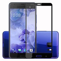 Schutzfolie Full Coverage Displayschutzfolie Panzerfolie Skins zum Aufkleben Gehärtetes Glas Glasfolie F02 für HTC U Ultra Schwarz