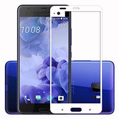 Schutzfolie Full Coverage Displayschutzfolie Panzerfolie Skins zum Aufkleben Gehärtetes Glas Glasfolie F02 für HTC U Ultra Weiß