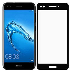 Schutzfolie Full Coverage Displayschutzfolie Panzerfolie Skins zum Aufkleben Gehärtetes Glas Glasfolie F02 für Huawei Enjoy 7 Schwarz