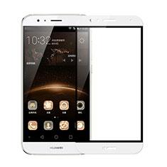 Schutzfolie Full Coverage Displayschutzfolie Panzerfolie Skins zum Aufkleben Gehärtetes Glas Glasfolie F02 für Huawei G7 Plus Weiß