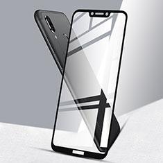 Schutzfolie Full Coverage Displayschutzfolie Panzerfolie Skins zum Aufkleben Gehärtetes Glas Glasfolie F02 für Huawei Honor Play Schwarz