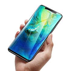 Schutzfolie Full Coverage Displayschutzfolie Panzerfolie Skins zum Aufkleben Gehärtetes Glas Glasfolie F02 für Huawei Mate 20 Pro Schwarz