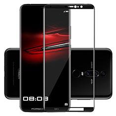 Schutzfolie Full Coverage Displayschutzfolie Panzerfolie Skins zum Aufkleben Gehärtetes Glas Glasfolie F02 für Huawei Mate RS Schwarz