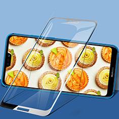 Schutzfolie Full Coverage Displayschutzfolie Panzerfolie Skins zum Aufkleben Gehärtetes Glas Glasfolie F02 für Huawei Nova 3e Schwarz