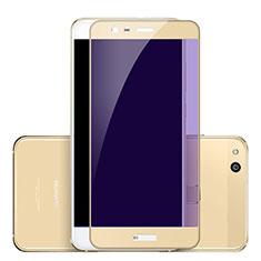 Schutzfolie Full Coverage Displayschutzfolie Panzerfolie Skins zum Aufkleben Gehärtetes Glas Glasfolie F02 für Huawei P10 Lite Gold