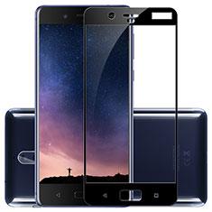 Schutzfolie Full Coverage Displayschutzfolie Panzerfolie Skins zum Aufkleben Gehärtetes Glas Glasfolie F02 für Nokia 8 Schwarz