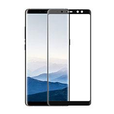 Schutzfolie Full Coverage Displayschutzfolie Panzerfolie Skins zum Aufkleben Gehärtetes Glas Glasfolie F02 für Samsung Galaxy A8 (2018) A530F Schwarz