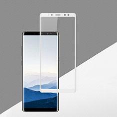 Schutzfolie Full Coverage Displayschutzfolie Panzerfolie Skins zum Aufkleben Gehärtetes Glas Glasfolie F02 für Samsung Galaxy A8 (2018) A530F Weiß