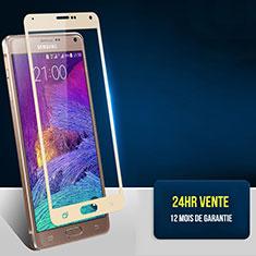 Schutzfolie Full Coverage Displayschutzfolie Panzerfolie Skins zum Aufkleben Gehärtetes Glas Glasfolie F02 für Samsung Galaxy Note 4 SM-N910F Gold