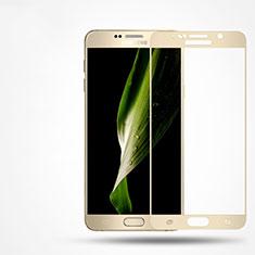 Schutzfolie Full Coverage Displayschutzfolie Panzerfolie Skins zum Aufkleben Gehärtetes Glas Glasfolie F02 für Samsung Galaxy Note 5 N9200 N920 N920F Gold