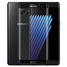 Schutzfolie Full Coverage Displayschutzfolie Panzerfolie Skins zum Aufkleben Gehärtetes Glas Glasfolie F02 für Samsung Galaxy Note 7 Schwarz