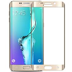 Schutzfolie Full Coverage Displayschutzfolie Panzerfolie Skins zum Aufkleben Gehärtetes Glas Glasfolie F02 für Samsung Galaxy S6 Edge+ Plus SM-G928F Weiß